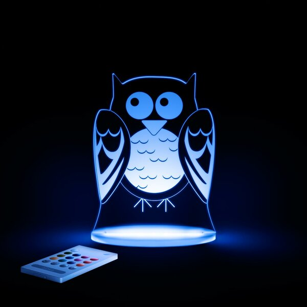 Aloka Starlights LED Owl Night Light with Remote Control by Lumenico