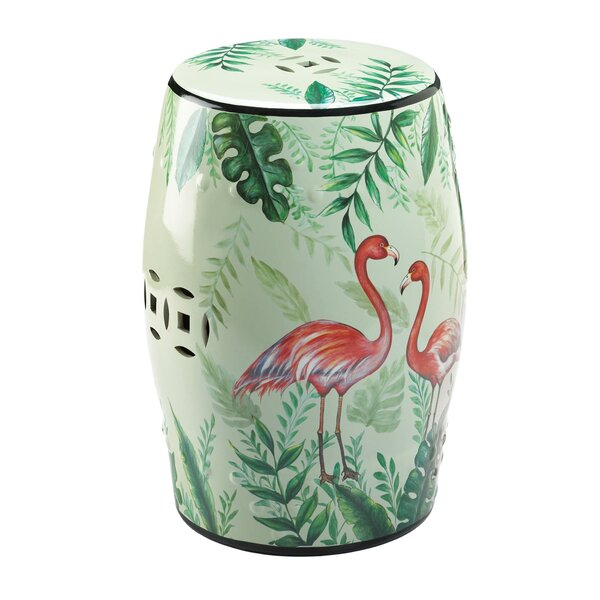 Flamingo Garden Stool by Bayou Breeze