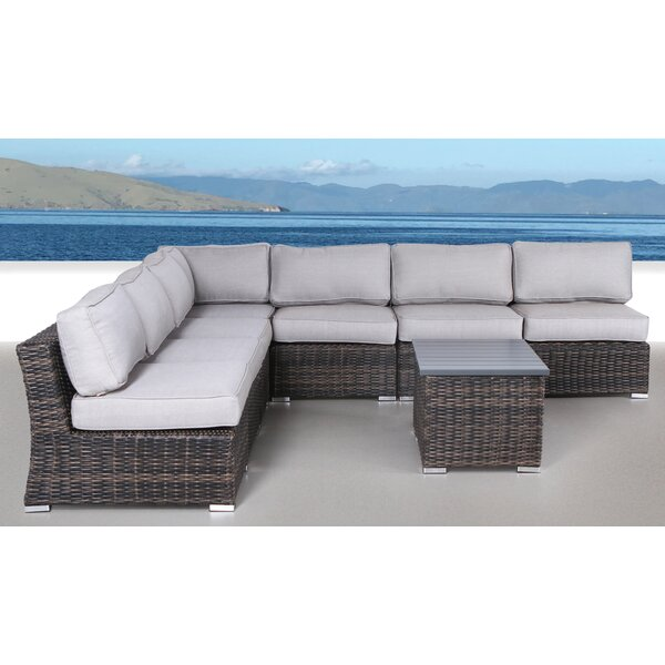 Huddleson 8 Piece Sectional Seating Group with Cushions by Rosecliff Heights