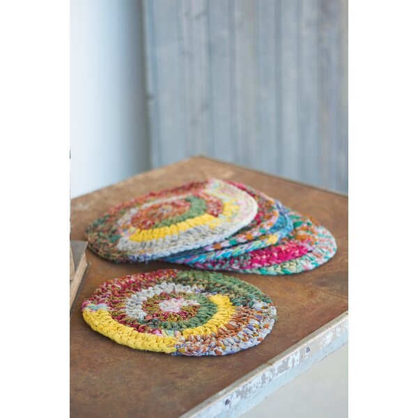 Knitted Kantha Placemat (Set of 6) by Kalalou