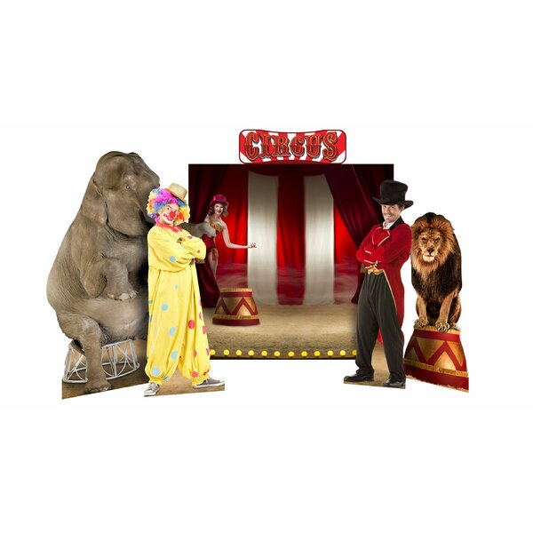Circus Theme Backdrop 5 piece Standup Set by Advanced Graphics