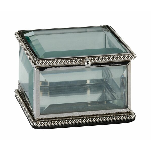 Square Glass Ring Box by Lillian Rose