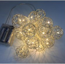 Metal Balls 20 Warm LED Light Garland by The Holiday Aisle