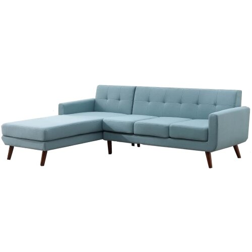 Withrow Fabric Left Arm Facing Sofa and Chaise Sectional by George Oliver