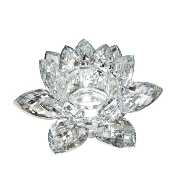 Lotus Crystal Tealight by House of Hampton