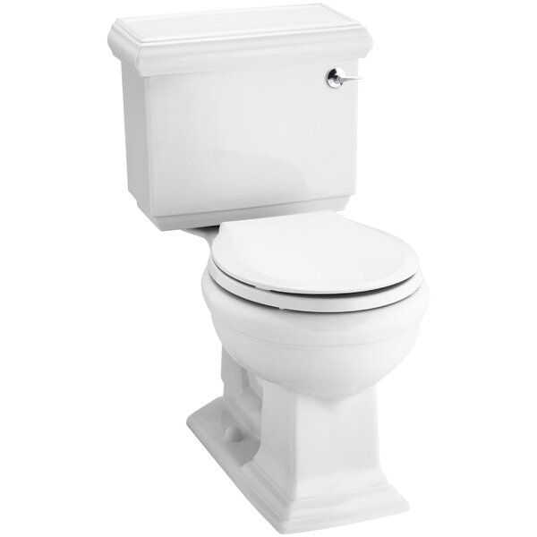 Memoirs Classic Comfort Height Two-Piece Round-Front 1.28 GPF Toilet with Aquapiston Flush Technology and Right-Hand Trip Lever by Kohler
