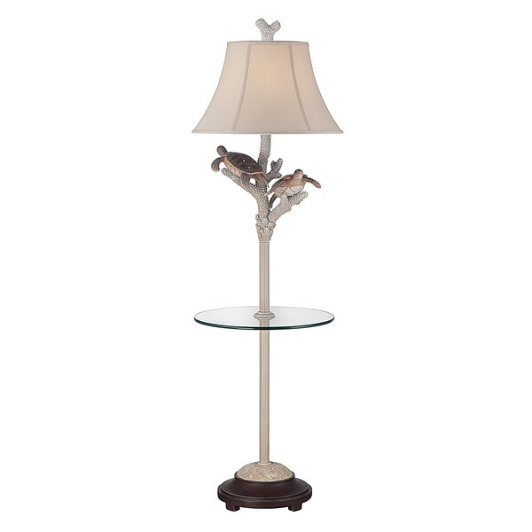 Lorraine Turtle 61 LED Traditional Floor Lamp by Highland Dunes