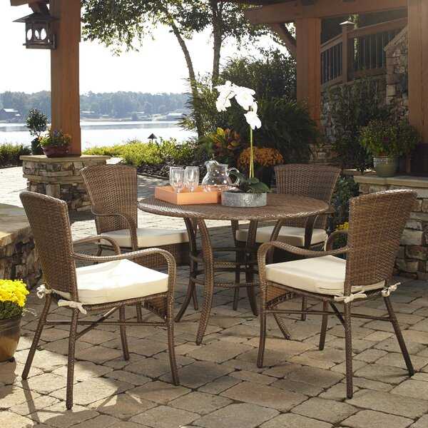 Key Biscayne 5 Piece Dining Set with Cushions by Panama Jack Outdoor