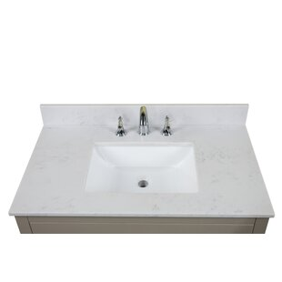 "Carrara Quartz 37"" Single Bathroom Vanity Top"