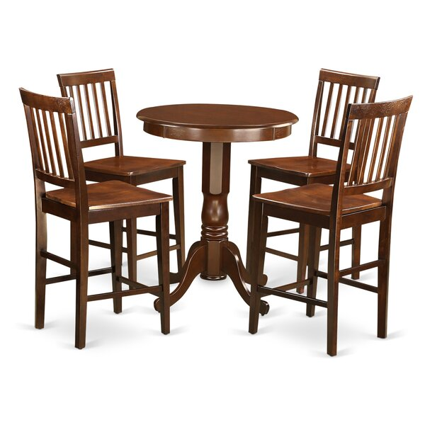 Eden 5 Piece Counter Height Pub Table Set by Wooden Importers