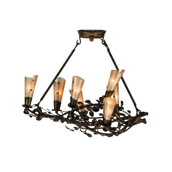 Vinca Vine 7-Light Shaded Chandelier by Meyda Tiffany