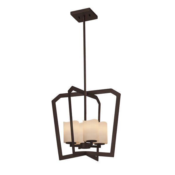 Wantage 4-Light Intersecting Foyer Pendant by Loon Peak