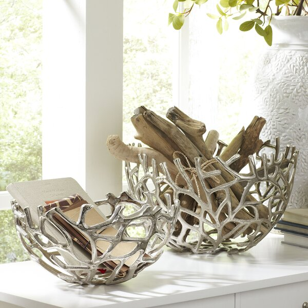 Kempler Coral Decorative Bowls (Set of 2) by Birch Lane™