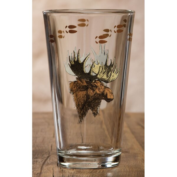 Adil Moose 20 oz. Glass Pint Glass (Set of 4) by Loon Peak