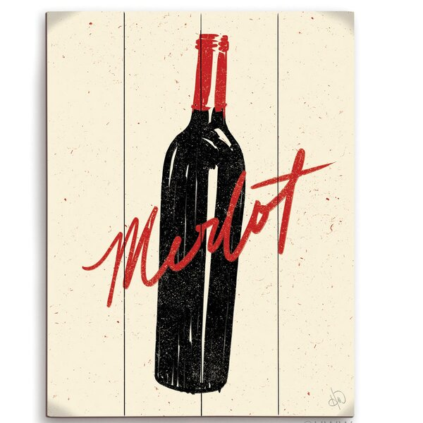 Bottle Of Merlot Painting Print by Click Wall Art