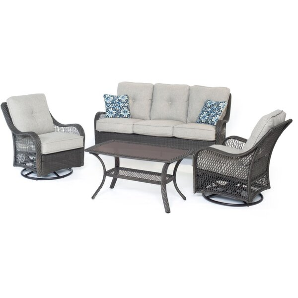 Bibiana 4 Piece Sofa Set with Cushions by Highland Dunes