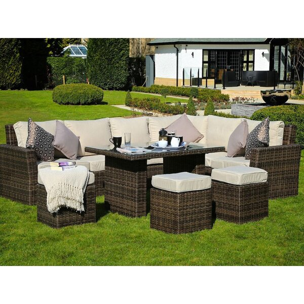 Eisenberg Outdoor 8 Piece Sofa Seating Group with Cushion by Darby Home Co