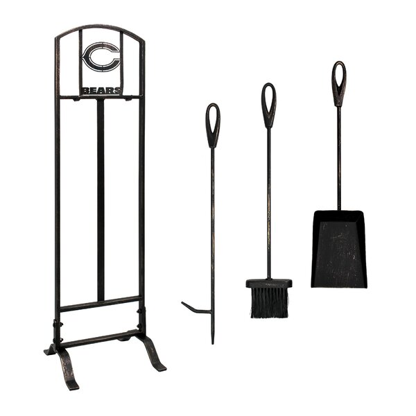 4 Piece Iron Fireplace Tool Set By Imperial International
