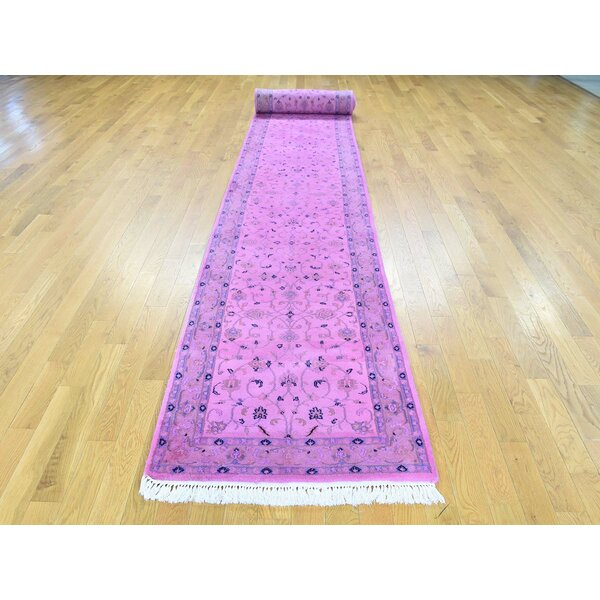 One-of-a-Kind Bockman Overdyed Handwoven Pink Wool Area Rug6 by Isabelline