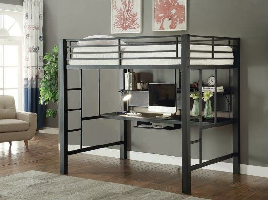 Bomar Workstation Full Loft Bed with Drawers by Isabelle & Max
