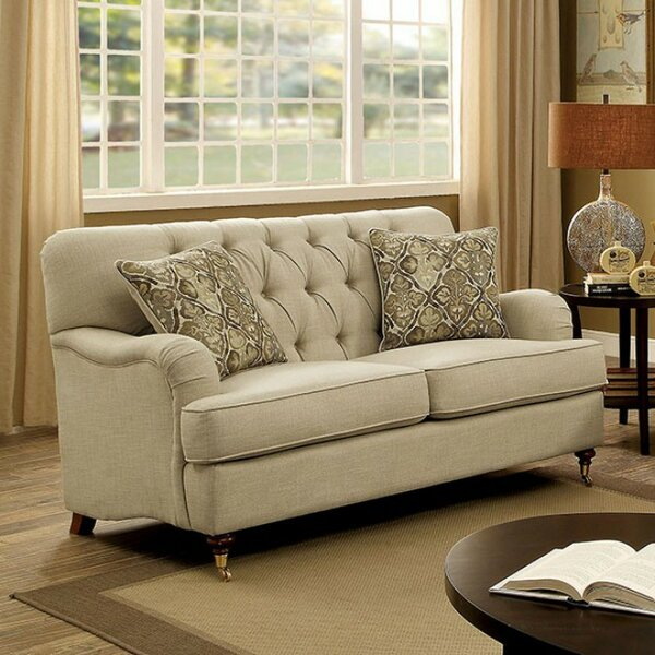 Adairsville Transitional Tufted Loveseat by Three Posts
