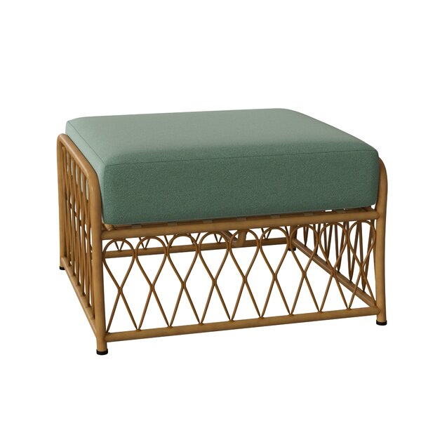 Cane Outdoor Ottoman with Cushion by Woodard