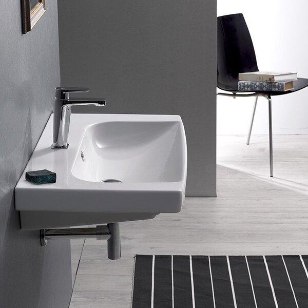 Roma Ceramic Rectangular Drop-In Bathroom Sink with Overflow