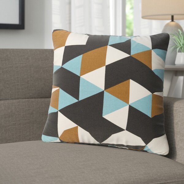 Arsdale Geometry Cotton Throw Pillow by Langley Street
