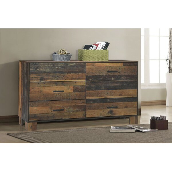 Keeso 6 Drawer Double Dresser by Foundry Select