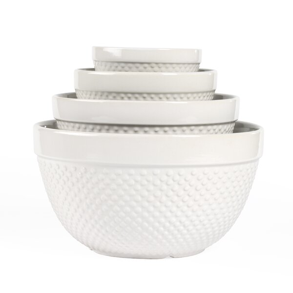 4 Piece Hobnail Mixing Bowl Set by Tabletops Gallery