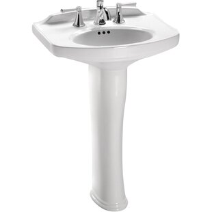 Compare & Buy Dartmouth Vitreous China 25 Pedestal Bathroom Sink with Overflow By Toto