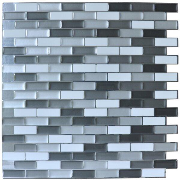 12 x 12 PVC Peel & Stick Mosaic Tile in Gray by Art3d