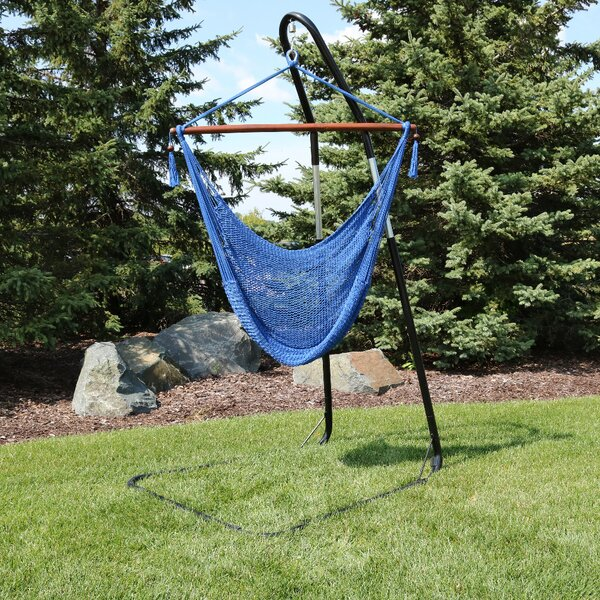 Poe Extra Large Chair Hammock with Stand by Bay Isle Home