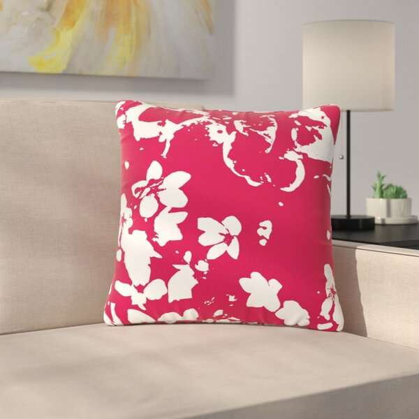 Love Midge Helena Floral Modern Outdoor Throw Pillow by East Urban Home