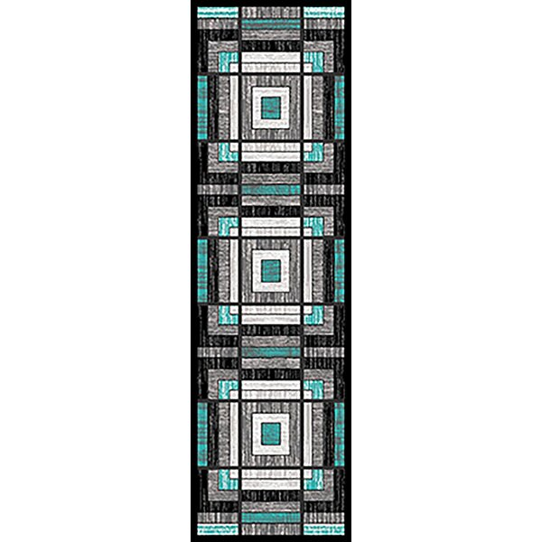 Mccampbell 3D Modern Contemporary Turquoise/Gray Area Rug by Ivy Bronx