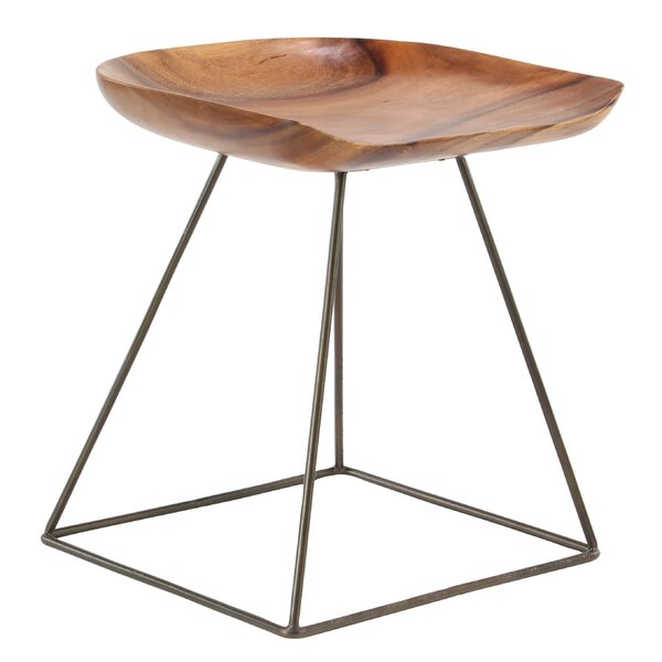 Alsip Rustic Square Seat Accent Stool by Foundry Select