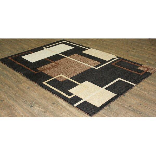 Yarbro Black Indoor Area Rug by Latitude Run