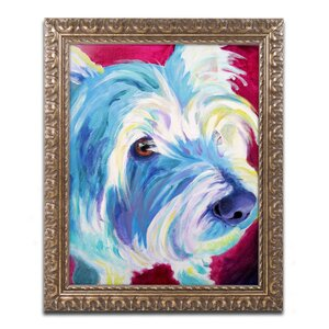 Westie by DawgArt Framed Painting Print by Trademark Fine Art