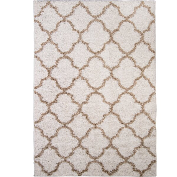 Synergy White/Beige Area Rug by Nicole Miller