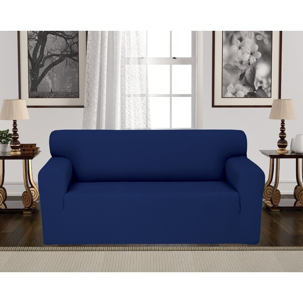 Anti-Slip Spandex Elastic Stretch T-Cushion Loveseat Slipcover by Rebrilliant
