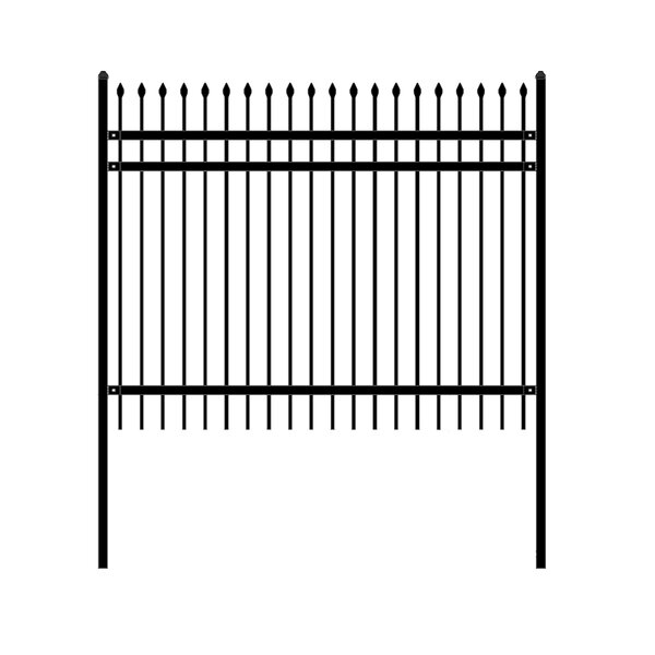 8 ft. W Rome DIY Unassembled Steel Fence Panel (Set of 4) by ALEKO
