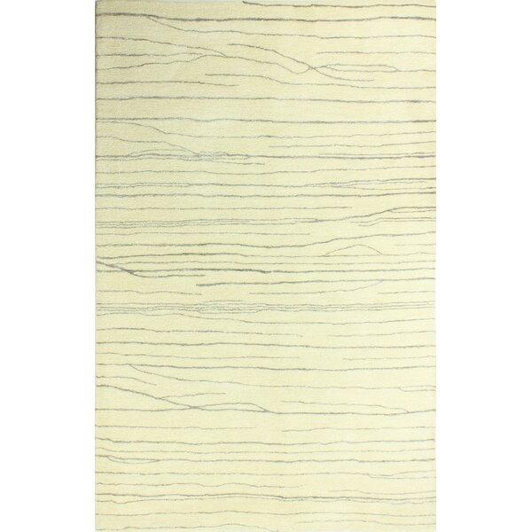 Jaqueline Hand-Tufted Ivory/Blue Area Rug by Union Rustic