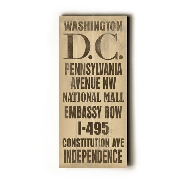 Washington DC Textual Art by Artehouse LLC