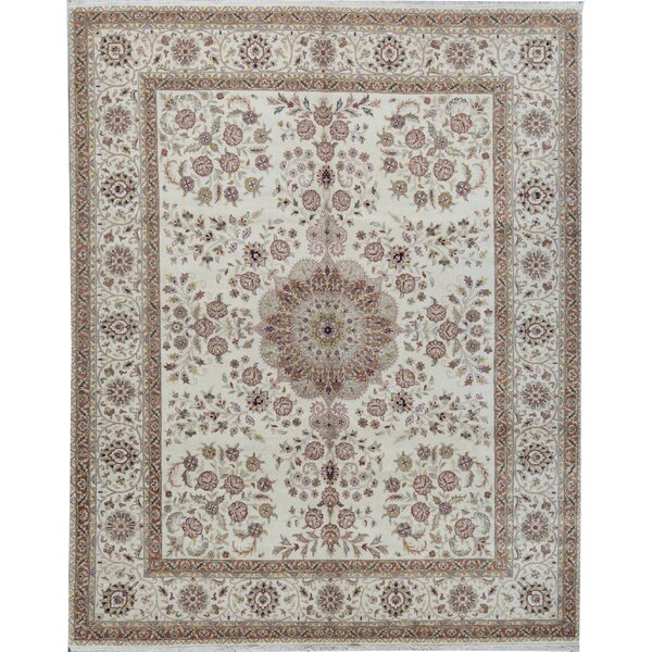 Gramercy Oriental Hand-Knotted 8' x 10' Wool Beige/Red Area Rug