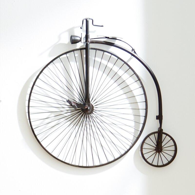 Metal bicycle wall d cor reviews birch lane for 70 bike decoration
