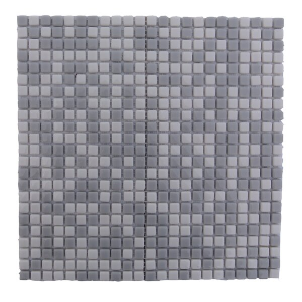 Full Body 0.5 x 0.5 Glass Mosaic Tile in Gray by Abolos