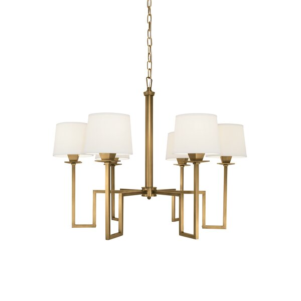 Borquez 6-Light Shaded Chandelier by Everly Quinn