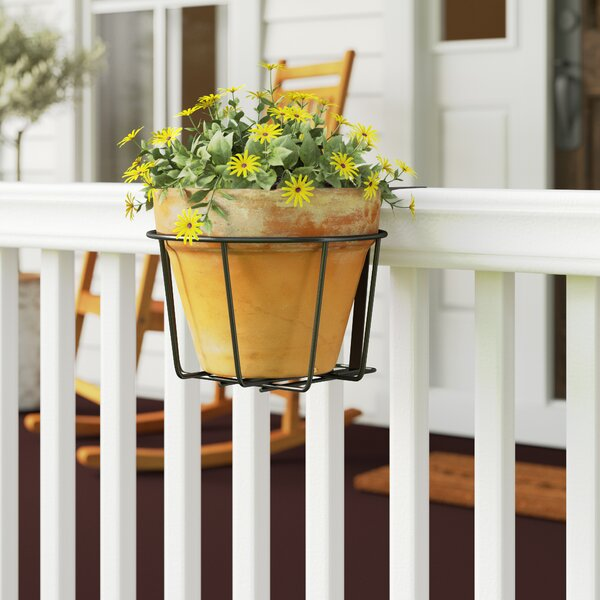 Tiana Adjustable Flower Metal Rail Planter by Gracie Oaks