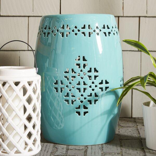Lorelei Ceramic Garden Stool by Beachcrest Home