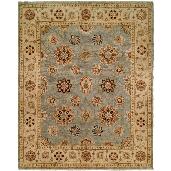 Hand-Knotted Blue/Ivory Area Rug by Wildon Home ®